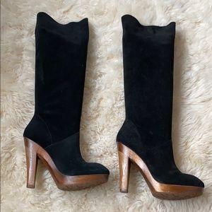Michael Kors suede knee high boots Sz 8